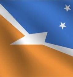 Tierra Del Fuego Province Argentina flag vector
