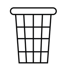 toilet trash icon with outline and line style vector image