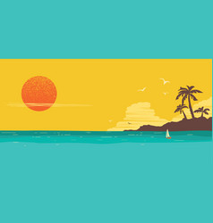 tropical island paradise horizon seascape vector image
