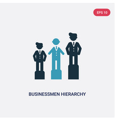 Two color businessmen hierarchy icon from people vector