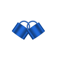 Two connected padlocks in blue design vector