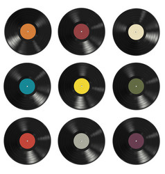 vinyl records pattern vector image