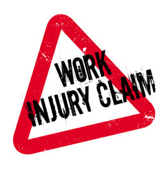 Work injury claim rubber stamp vector