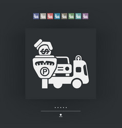 Wrecker parking area vector
