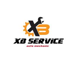 x b service protection logo designs vector image