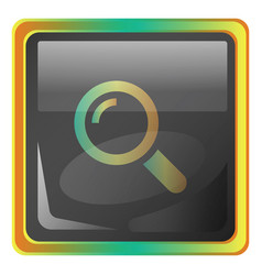 zoom grey icon with colorful details on white vector image