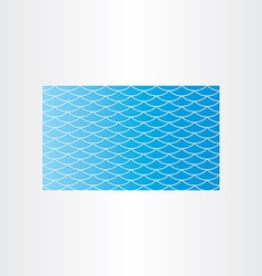 blue water wave background seamless card vector image vector image