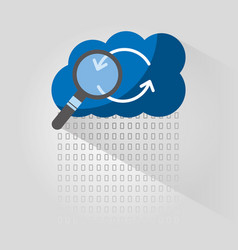 cloud computing arrow refresh search vector image