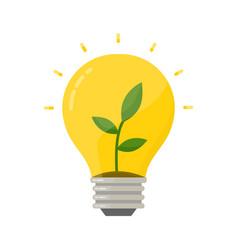 eco bulb lightbulb with green plant germ vector image