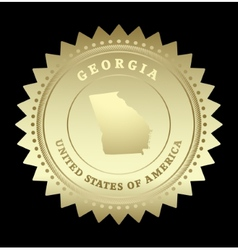 Gold star label Georgia vector image vector image