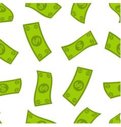 money flow seamless pattern falling dollars vector image