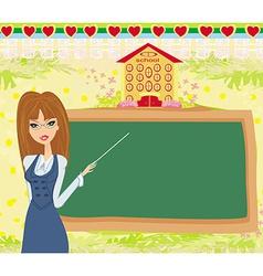 abstract frame school - teacher and blackboard vector image vector image