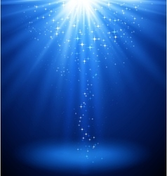 Abstract magic light background Blue holiday vector image