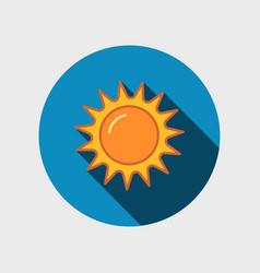 abstract sun icon vector image