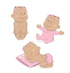 African baby girl set vector image vector image