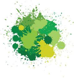 blots in green tones vector image vector image