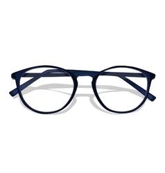 dark blue glasses vector image vector image