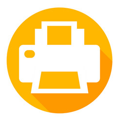 printer or print drive icon of set material design vector image