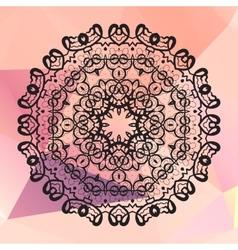 Round mandala Geometric circle element made in vector image vector image