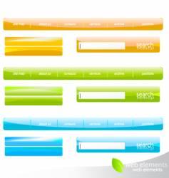web navigation details vector image