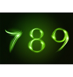 abstract 789 green vector image vector image