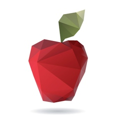 Apple abstract isolated on a white backgrounds vector image vector image