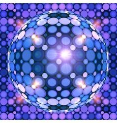 Blue shining disco ball vector image