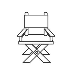 director chair icon vector image