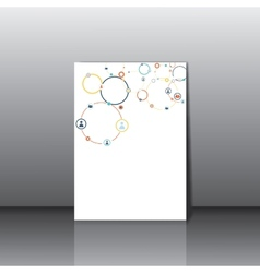 Human concept on the card vector image