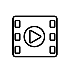 media player isolated icon vector image