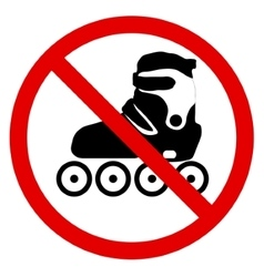No roller skate vector image vector image