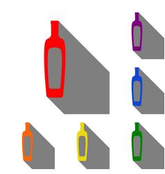 olive oil bottle sign set of red orange yellow vector image