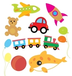 Set of child and kids toys vector image