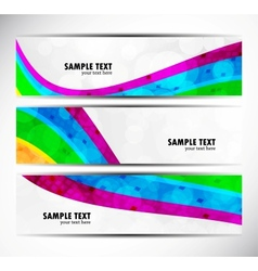 Set of rainbow banners vector image
