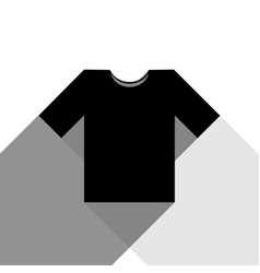 t-shirt sign black icon with vector image vector image