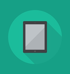Technology Flat Icon Tablet vector image vector image