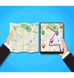 World map mobile gps navigation vector