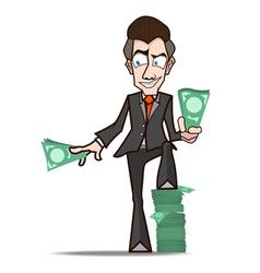 businessman Show rich cartoon vector image vector image