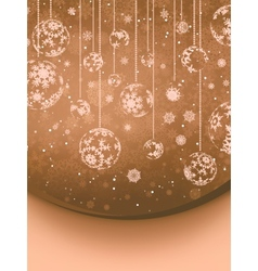 Christmas baubles background vector image vector image