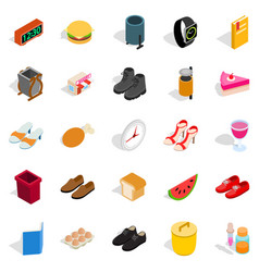 inside the house icons set isometric style vector image