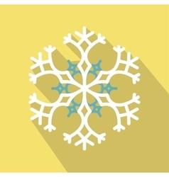 White snowflake flat icon vector image vector image