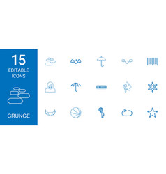 15 grunge icons vector