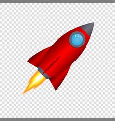 3d cartoon rocket vector