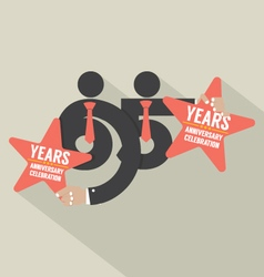 65 Years Anniversary Typography Design Illu vector image
