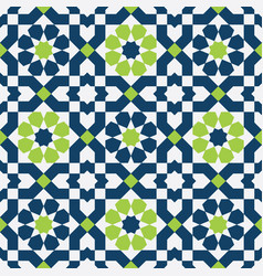 abstract colorful seamless islamic pattern vector image