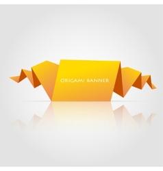 Abstract orange origami speech bubble vector image
