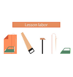 Assembly flat icons work lesson vector