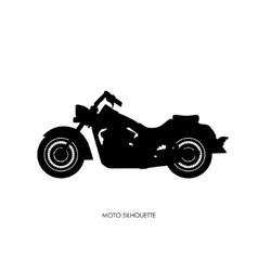 Black silhouette a heavy motorcycle vector