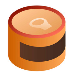 brown tin can icon isometric style vector image