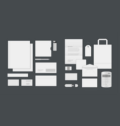 business corporate identity mock ups template for vector image